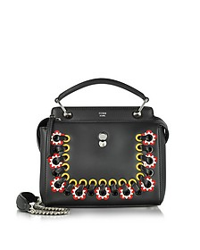 Dotcom Click Black Leather Handbag w/Stitching - Fendi