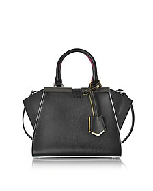 Mini 3Jours Black Leather Handbag - Fendi
