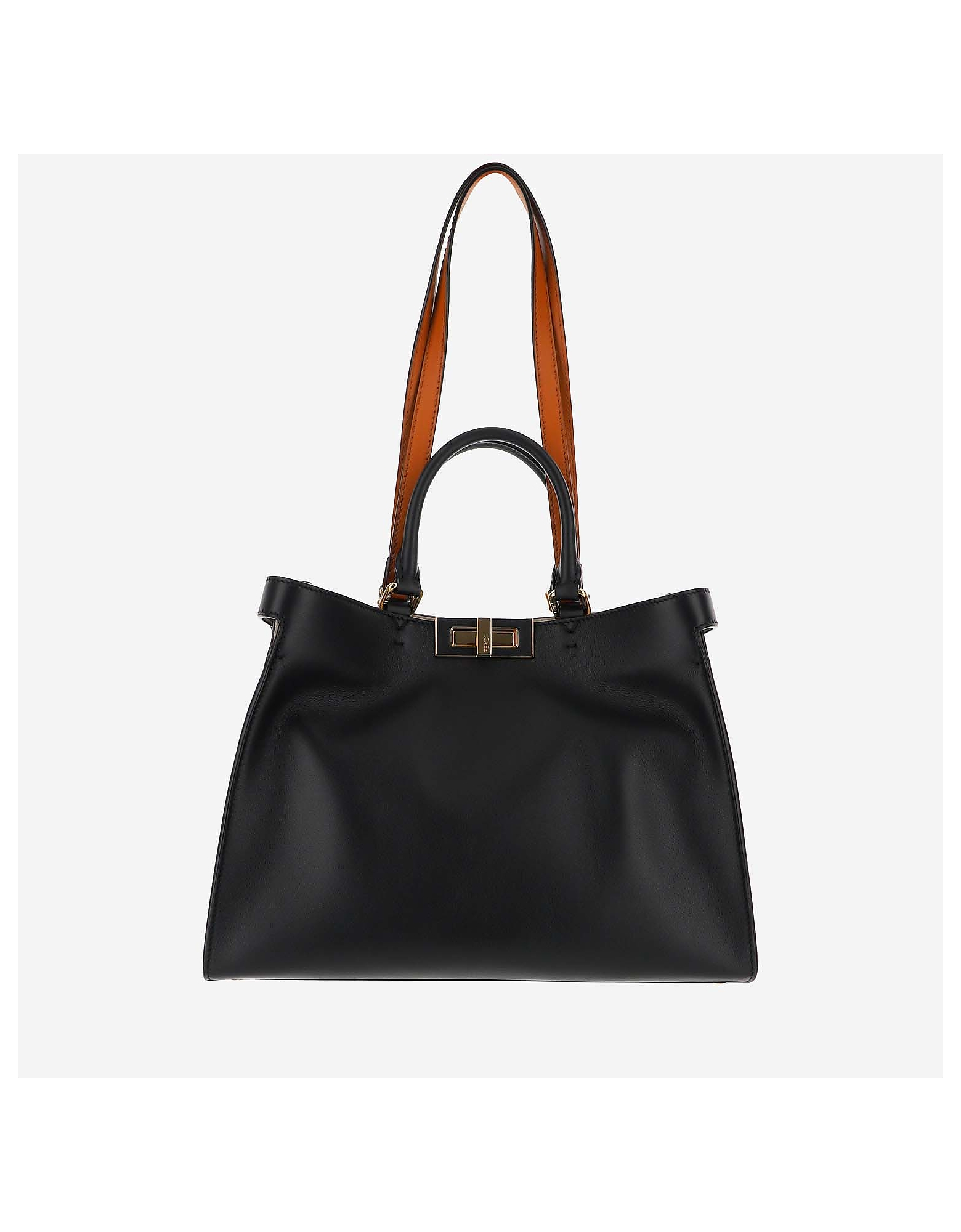 Fendi Designer Handbags, Orange bag