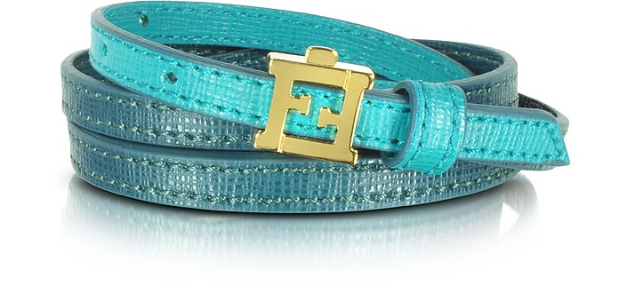 Crayons Bi-color Multi Wrap Leather Bracelet - Fendi