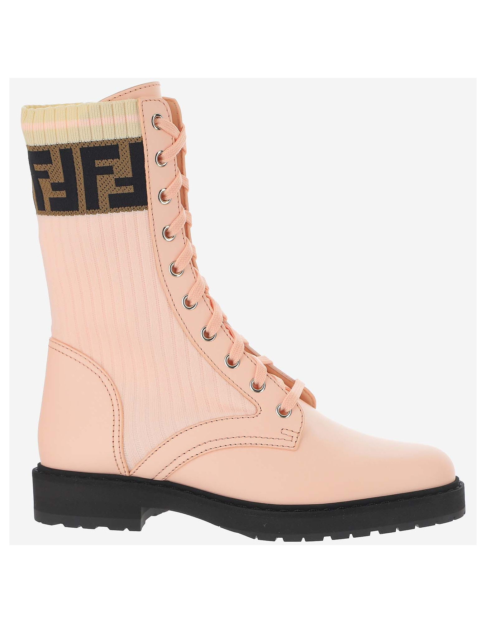 Fendi Designer Shoes, Pink Ankle Boots