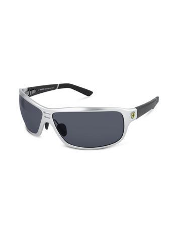 Ferrari Prancing Horse Logo Carbon Fiber Temple Wrap Sunglasses