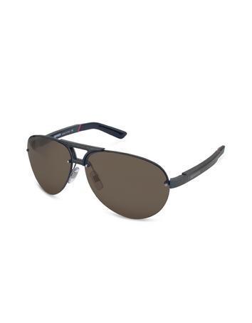 Ferrari Carbon Fiber Temple Aviator Logo Sunglasses