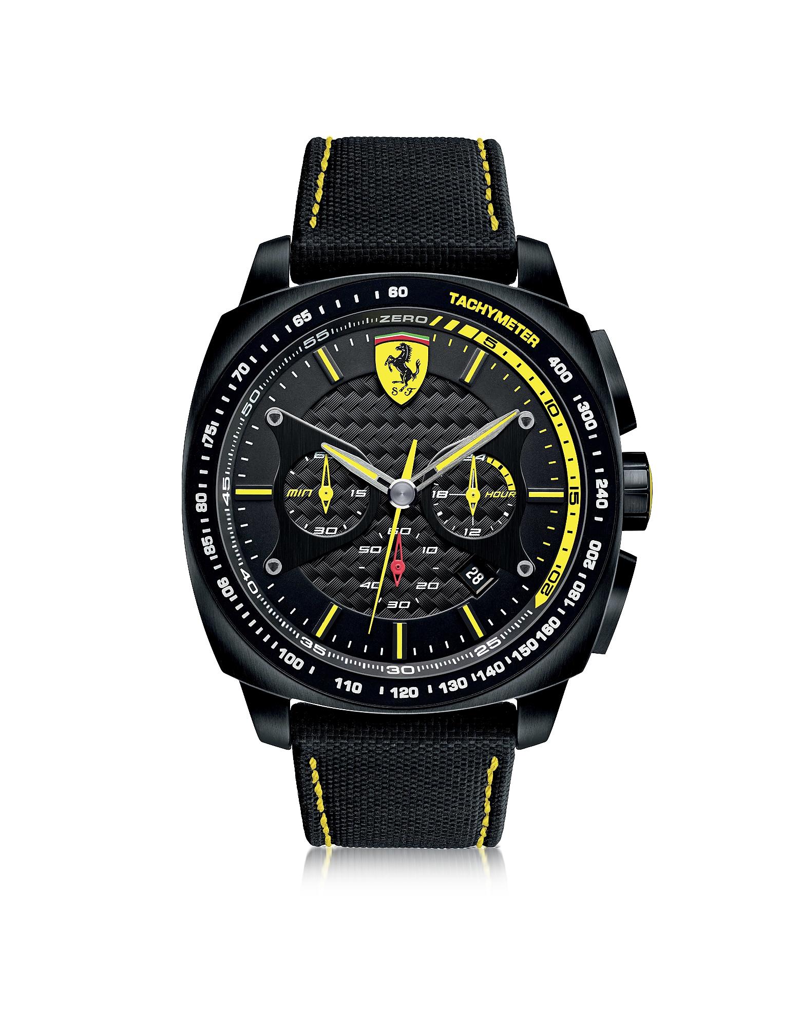 Aero Evo - Черные и Желтые Мужские Часы из Нержавеющей Стали с Ремешком из Нейлона