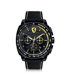 Aero Evo Chronograph aus Edelstahl in schwarz und gelb mit Nylonarmband  - Ferrari