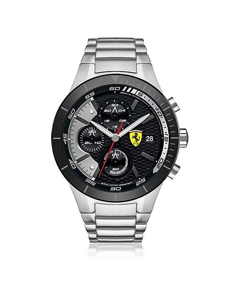 Foto Ferrari Crono RedRev Evo Orologio da Uomo in Acciaio Silver/Nero Orologi Uomo