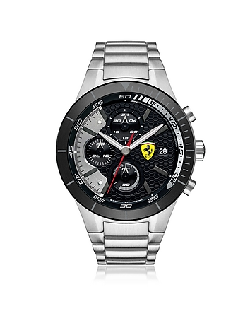 Ferrari - RedRev Evo Silver Tone Stainless Steel Men's Chrono Watch