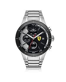 RedRev Evo Herren-Chronographenuhr aus Edelstahl in silber - Ferrari