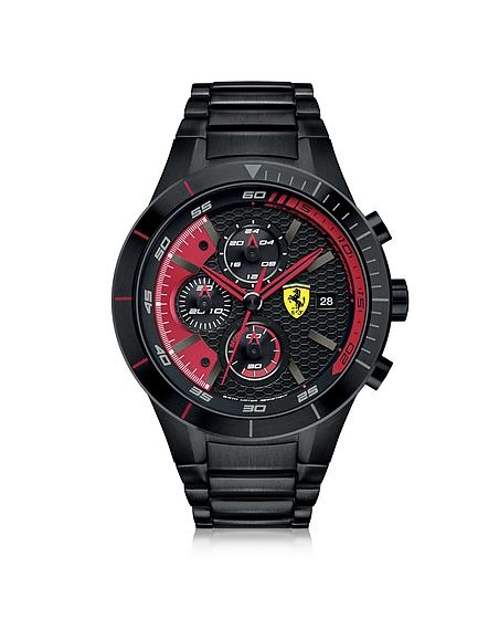 Foto Ferrari Crono RedRev Evo Orologio da Uomo in Acciaio Nero/Rosso Orologi Uomo
