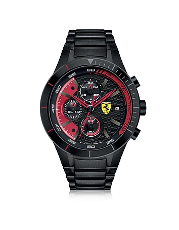 Ferrari - RedRev Evo Black Stainless Steel Men's Chrono Watch