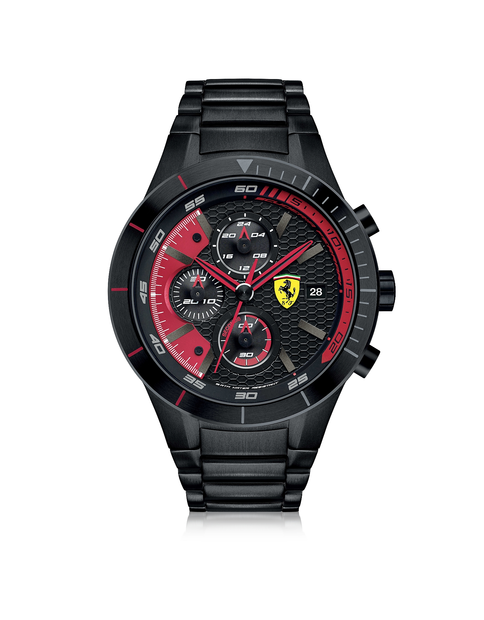Ferrari Men's Watches, RedRev Evo Black Stainless Steel Men's Chrono Watch