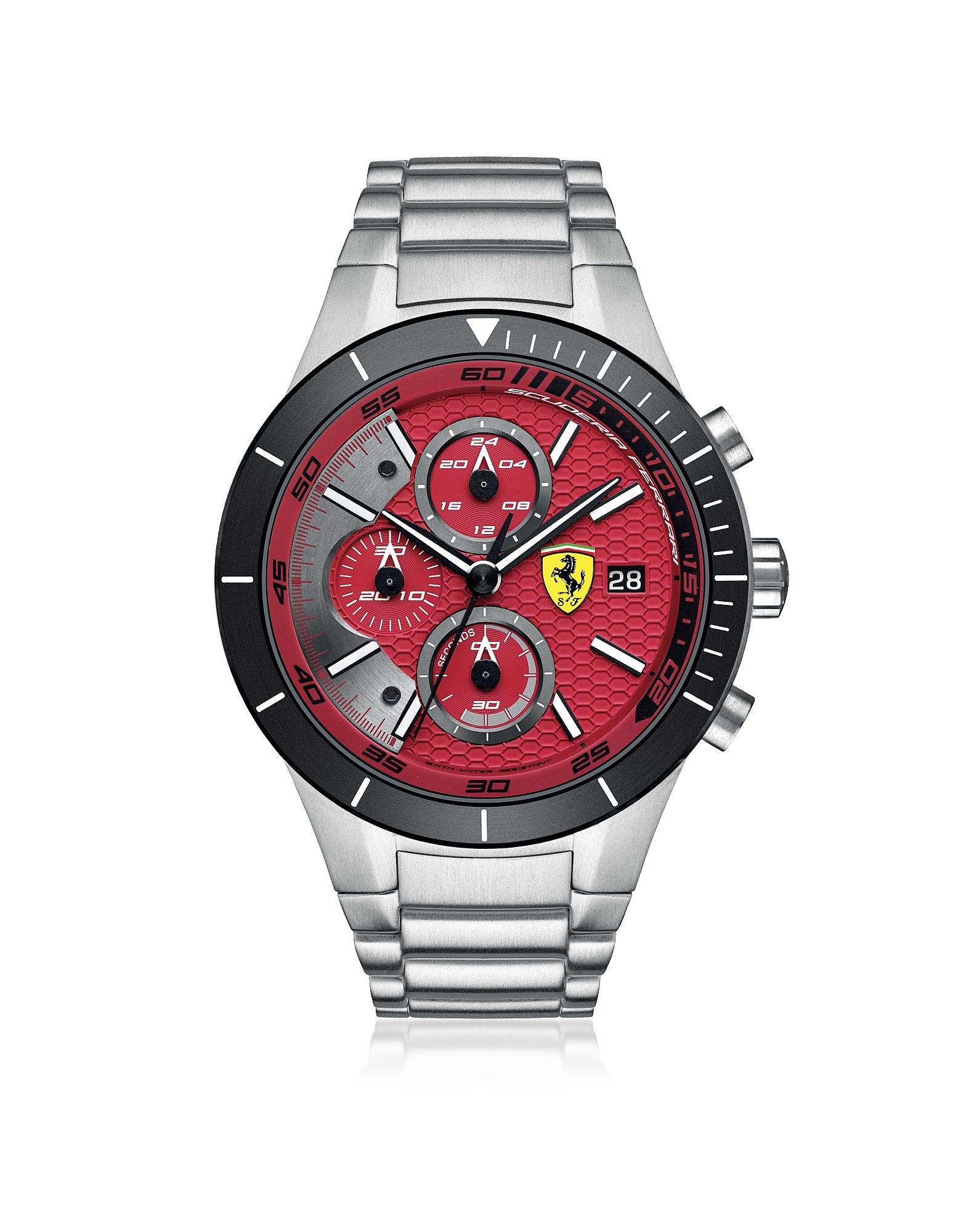 Red Rev Evo - Серебристые Мужские Часы Хронограф из Нержавеющей Стали