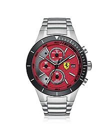 RedRev Evo Herren-Chronographenuhr aus Edestahl in silber - Ferrari
