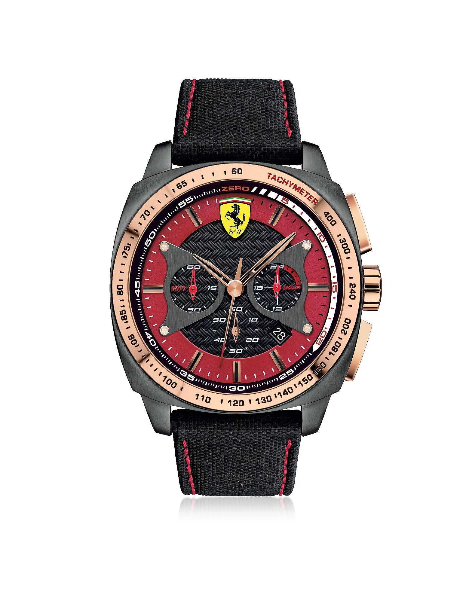 Ferrari Men's Watches, Aero Evo Stainless Steel Case and Black Nylon Strap Men's Watch