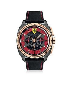 Aero Evo Herrenuhr aus Edelstahl mit Nylonarmband in schwarz - Ferrari
