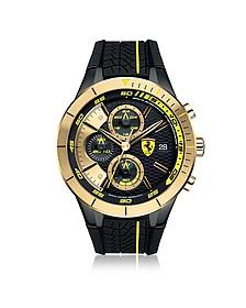 RedRev Evo Herren-Chrongraphenuhr aus Edelstahl in gold und schwarz - Ferrari