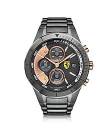 Red Rev Evo Chronographenuhr aus Edelstahl in grau - Ferrari
