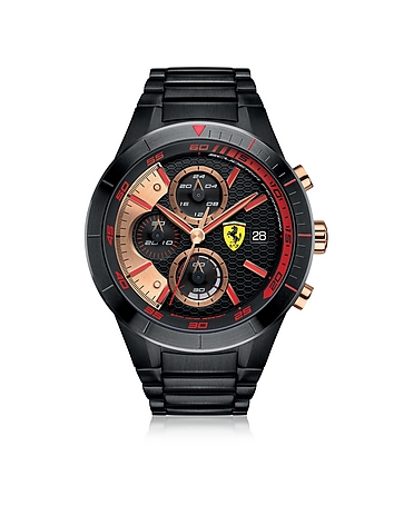 Ferrari - Red Rev Evo Black Stainless Steel Men's Chrono Watch