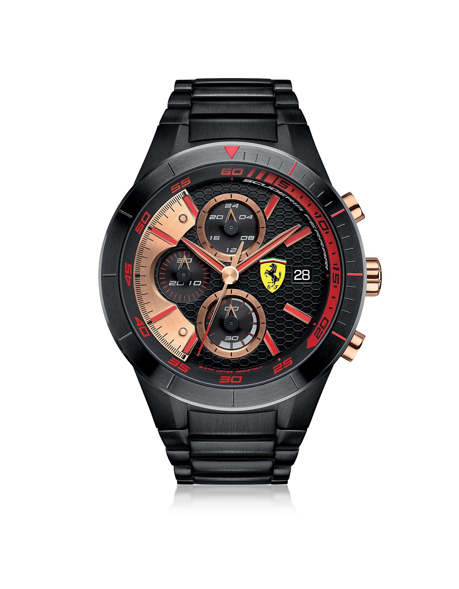Red Rev Evo - Черные Мужские Часы Хронограф из Нержавеющей Стали