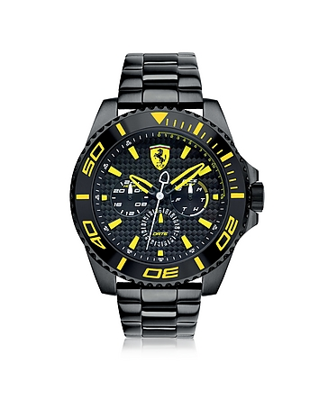 Ferrari - XX Kers Black and Yellow Stainless Steel Men's Watch