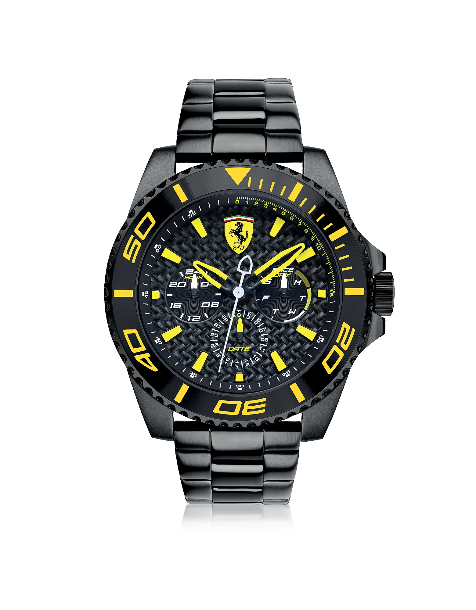 Ferrari Men's Watches, XX Kers Black and Yellow Stainless Steel Men's Watch