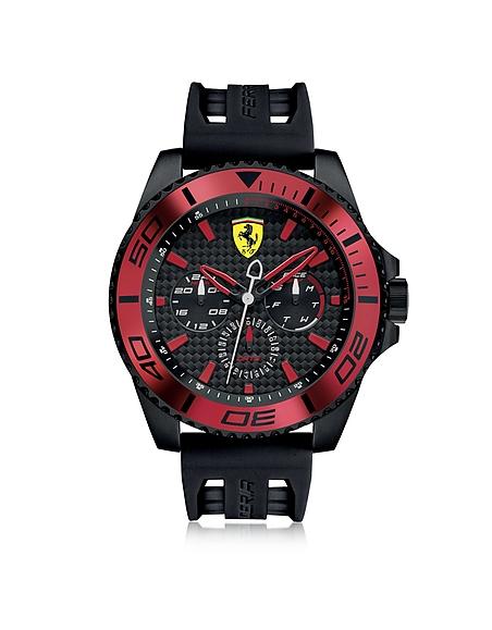 Foto Ferrari XX Kers Orologio in Acciaio Nero e Rosso con Cinturino in Silicone Orologi Uomo
