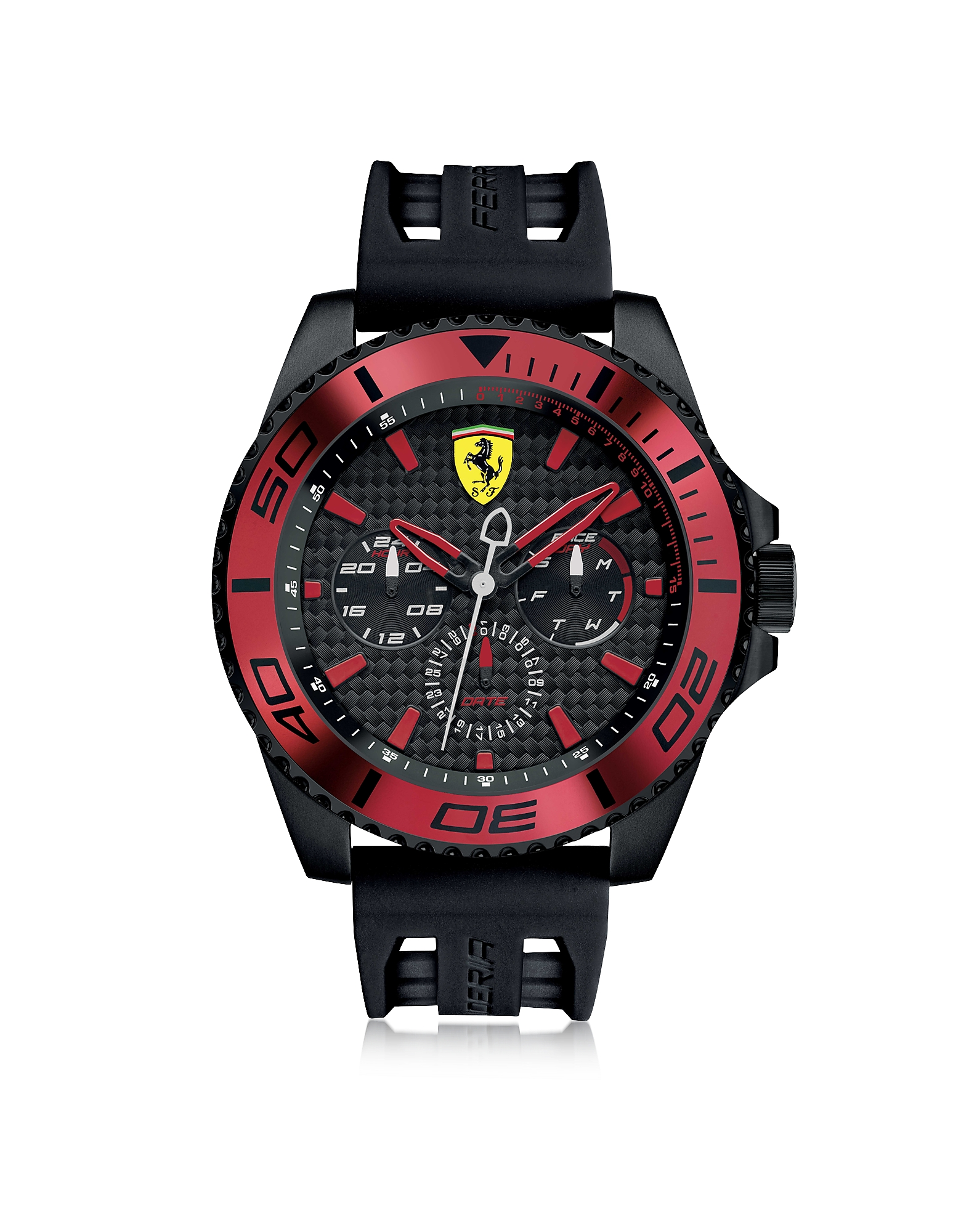 Ferrari Men's Watches, XX Kers Black and Red Stainless Steel Men's Watch