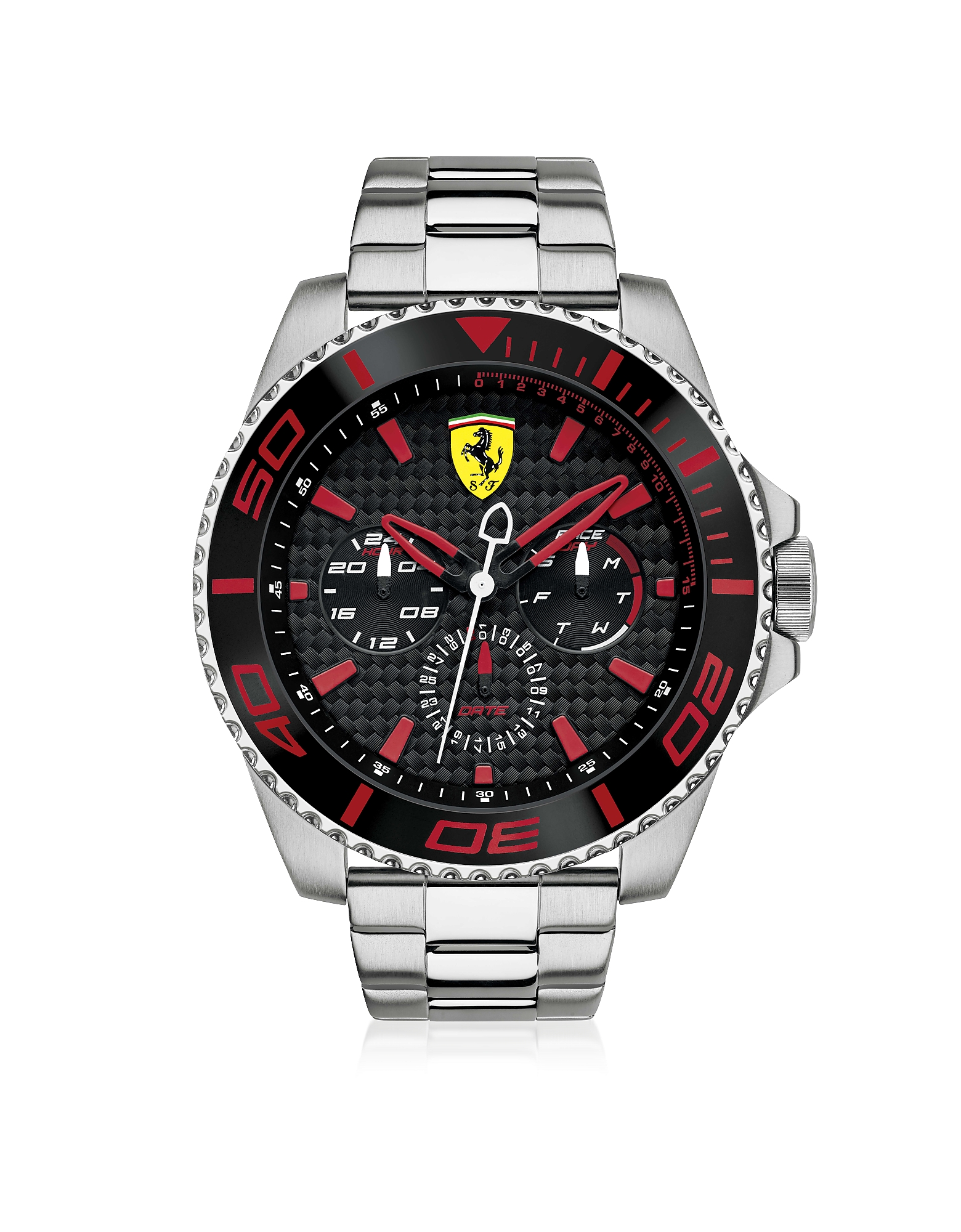 Ferrari Men's Watches, XX Kers Silver and Red Stainless Steel Men's Watch