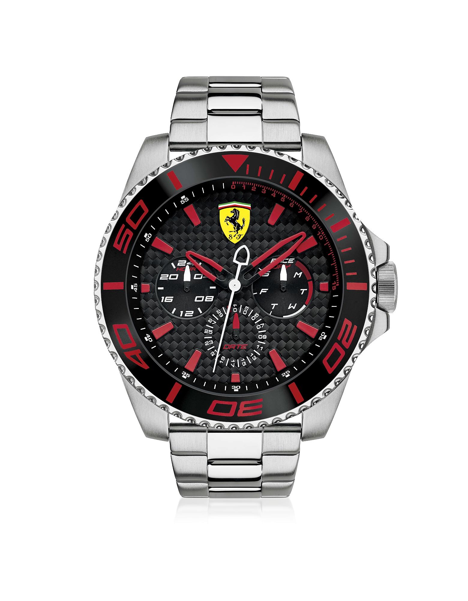 XX Kers - Серебристые и Красные Мужские Часы из Нержавеющей Стали