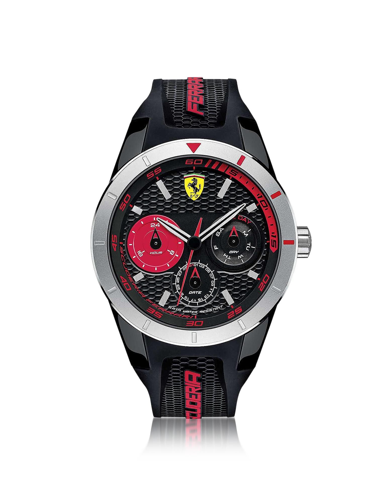 Фото Red Rev T - Серебристые Мужские Часы из Нержавеющей Стали с Черным Силиконовым Ремешком. Купить с доставкой