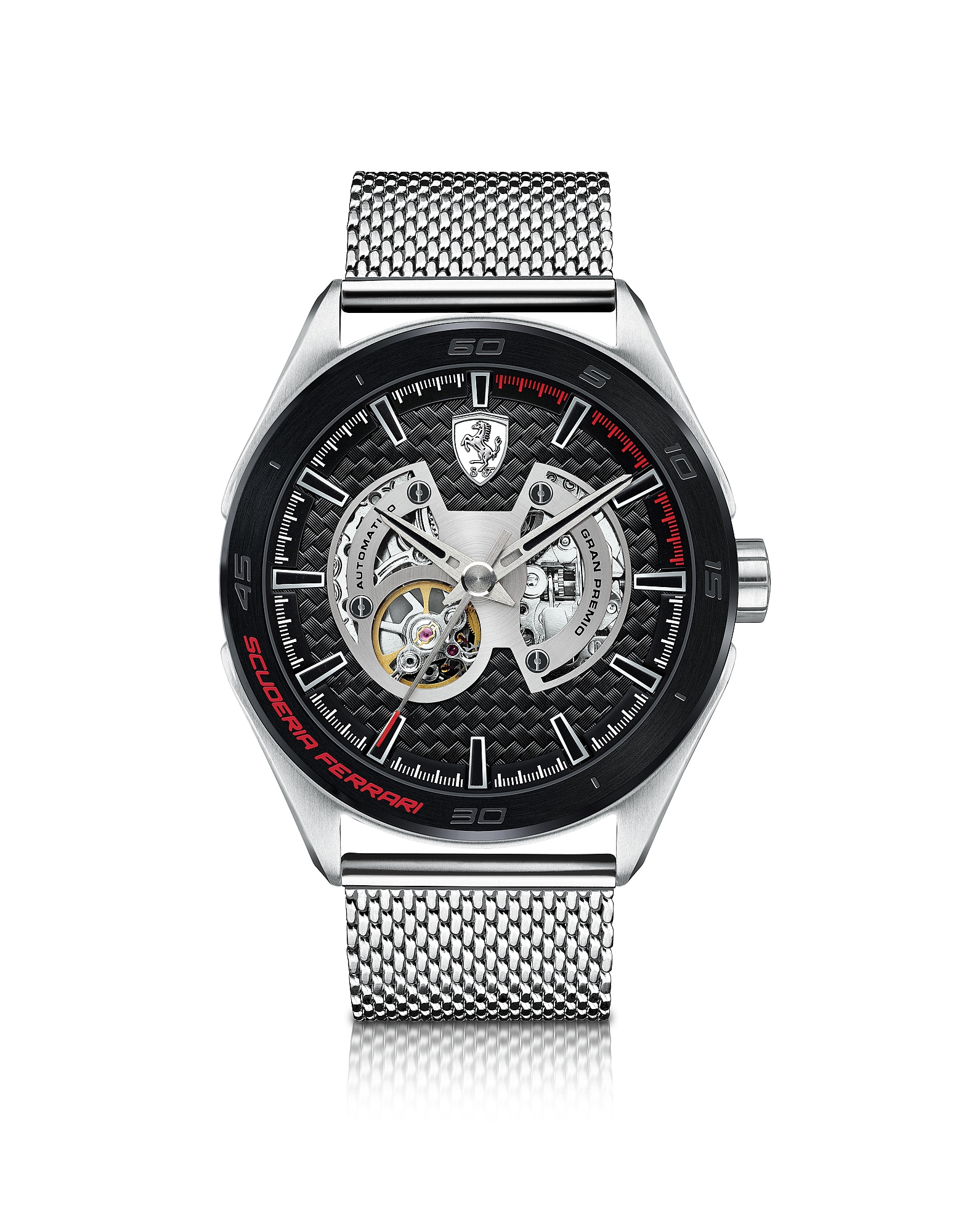 Gran Premio - Серебристые Мужские Часы с Браслетом из Нержавеющей Стали