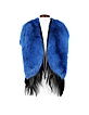Electric Butterfly Blue and Black Swedish Fur Stole - Fearfur