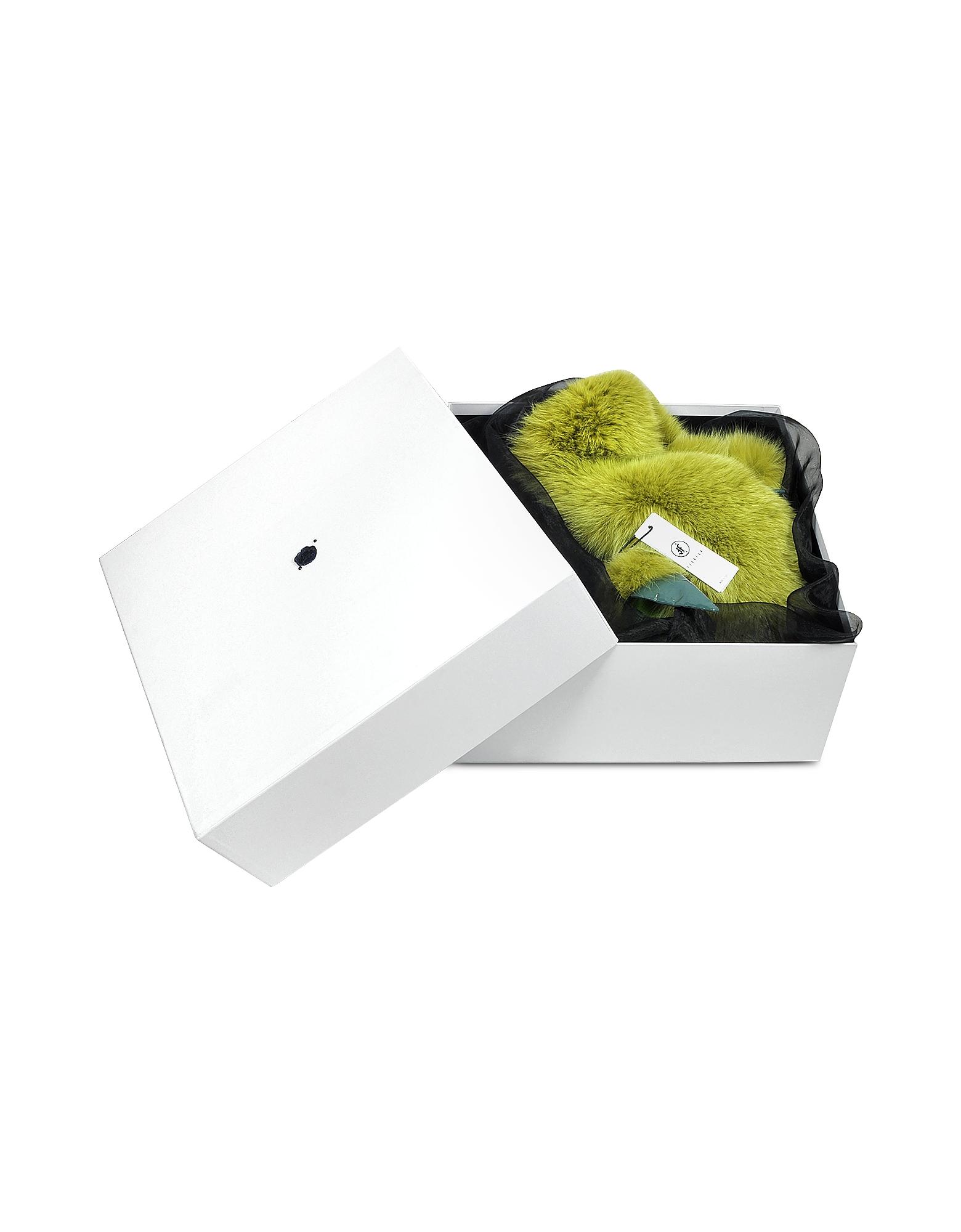 Praying Mantis Green Fox Fur Stole от Forzieri.com INT