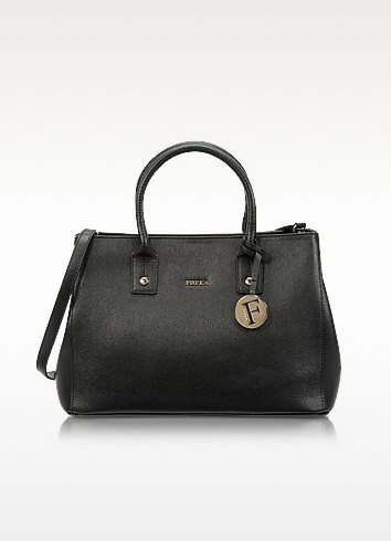 Linda Onyx Saffiano Leather Small Tote - Furla