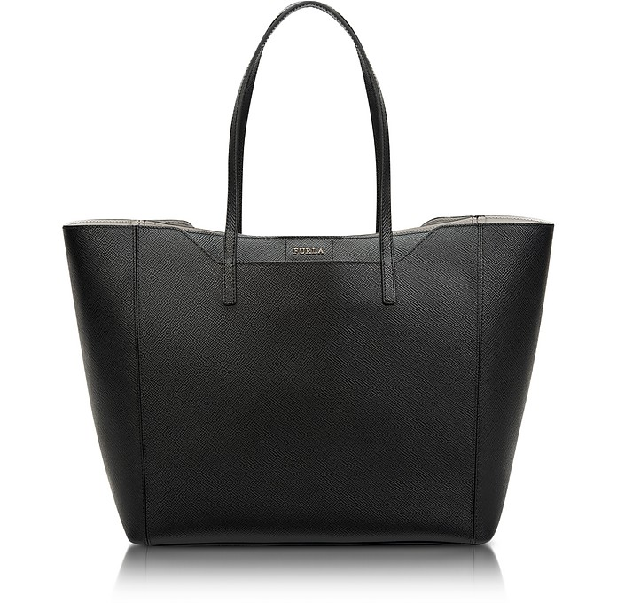 Fantasia Onyx Saffiano Leather Medium Tote - Furla