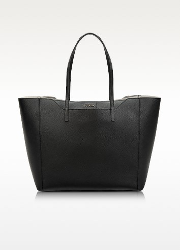 Fantasia Onyx Saffiano Leather Medium Tote - Furla
