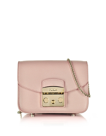 Furla - Metropolis Moonstone Leather Mini Crossbody Bag
