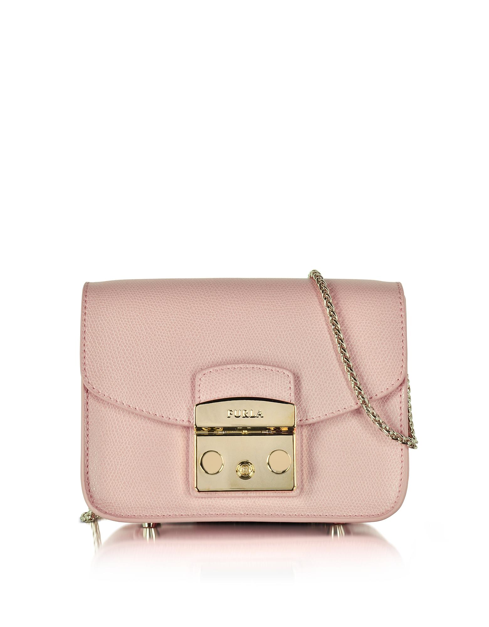 Furla Handbags, Metropolis Moonstone Leather Mini Crossbody Bag