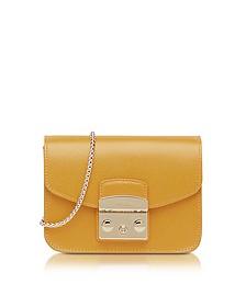 Metropolis Mini Saffron Leather Crossbody Bag - Furla