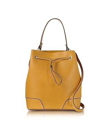Furla - Stacy Saffron Leather Bucket Bag