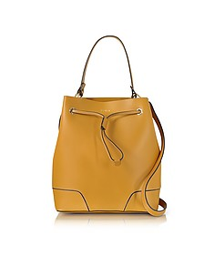 Stacy Saffron Leather Bucket Bag - Furla