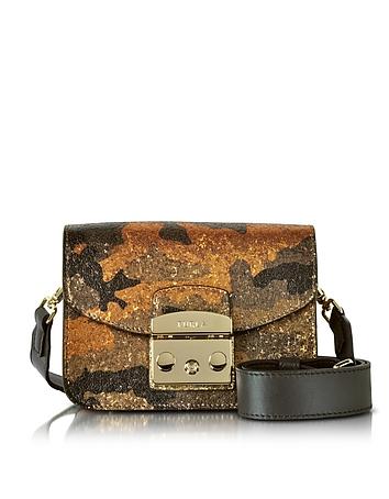 Furla Toni Safari Metropolis Diamante Mini Crossbody Bag w/Glitter