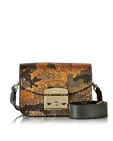 Toni Safari Metropolis Diamante Mini Crossbody Bag w/Glitter