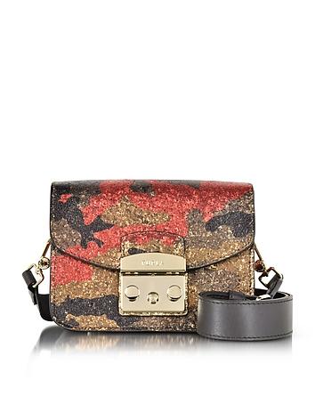 Furla - Toni Peperoncino Metropolis Diamante Mini Crossbody Bag w/Glitter