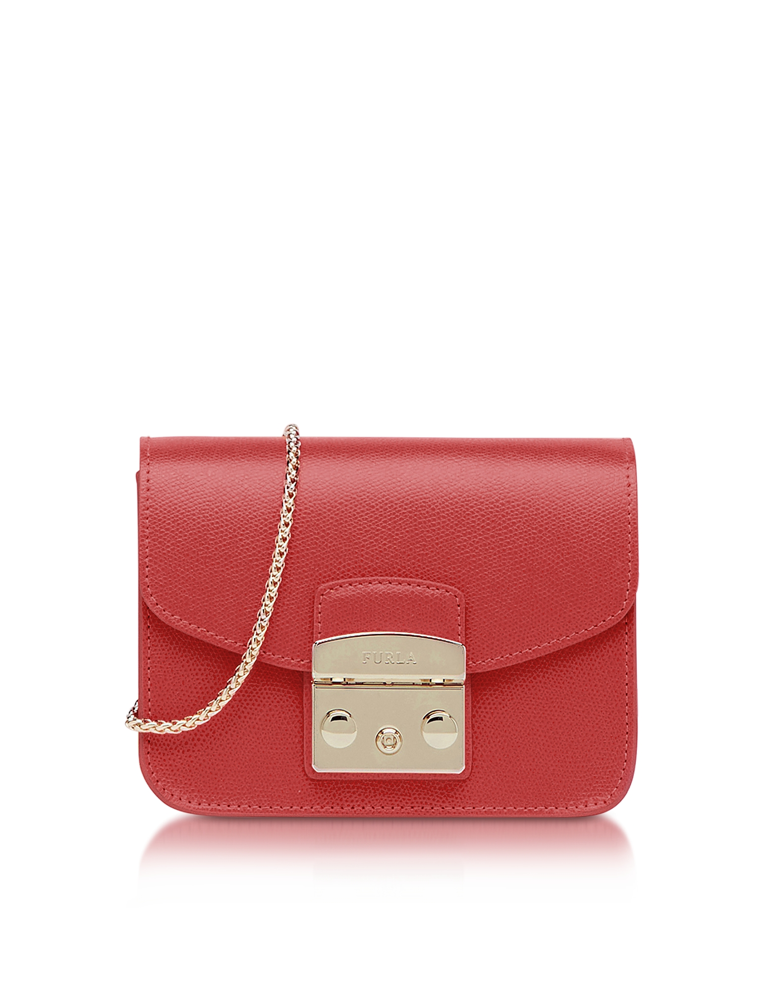 Ruby Leather Metropolis Mini Crossbody Bag