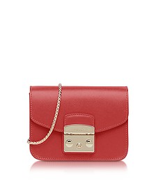 Ruby Leather Metropolis Mini Crossbody Bag - Furla