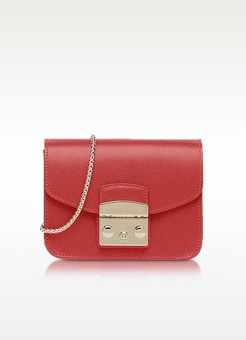 Ruby Leather Metropolis Mini Crossbody Bag - Furla