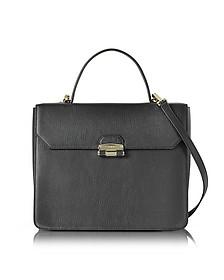 Black Chiara Medium Top Handle Satchel Bag - Furla