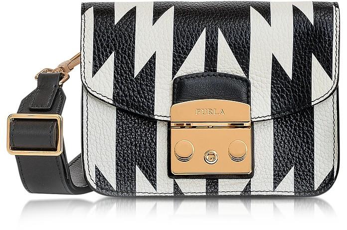 Onyx and Petalo Oasi Printed Leather Metropolis Mini Crossbody - Furla
