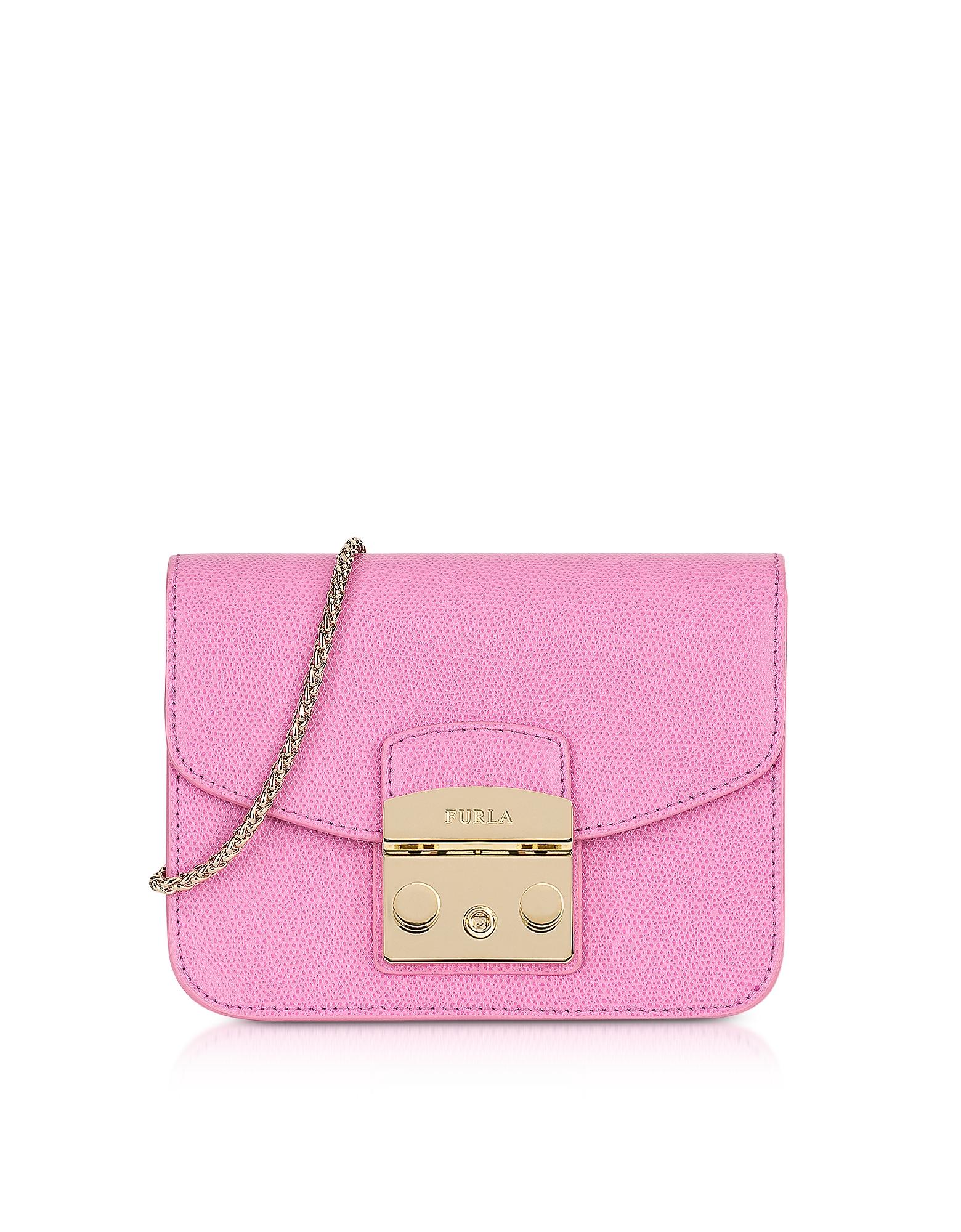 Furla Handbags, Orchid Leather Metropolis Mini Crossbody Bag